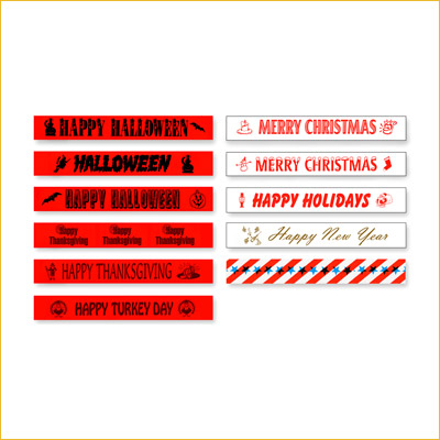 Holiday Event Zone (EZ) Tape (3 Inch) (ROLL)