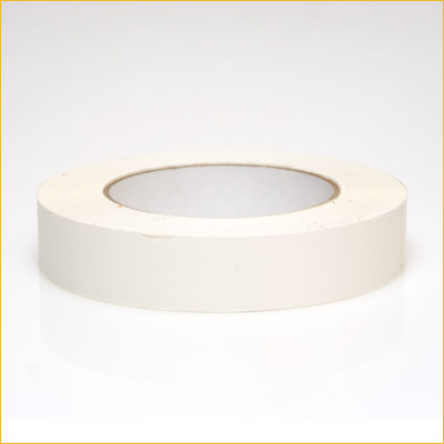 "FP 17 1"" White Flat Backed Tape"