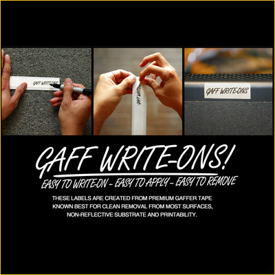 Gaff Write-Ons! (Roll)